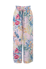 Limited-edition multicoloured high waist belted trousers eiko ai