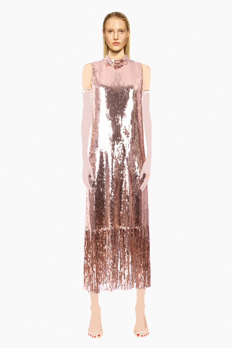 Stellar Dress - Rose Gold