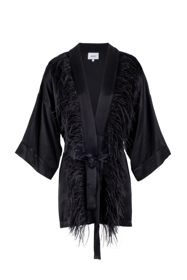 Limited-edition feathers kimono jacket eiko ai