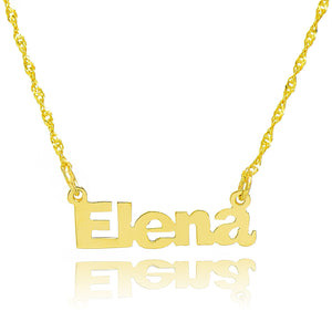 14K Yellow Gold Personalized Cute Name Necklace