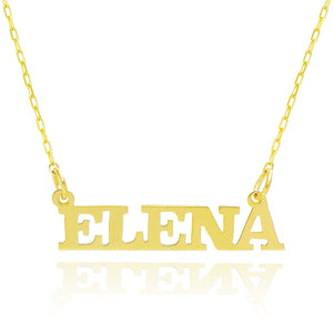 14K Yellow Gold Personalized Capital Name Necklace