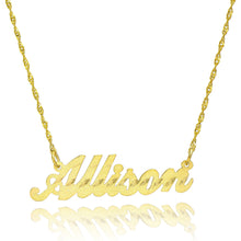 14K Yellow Gold Personalized Stardust Name Necklace