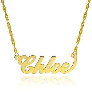 14K Yellow Gold Personalized Name Necklace - Style 1