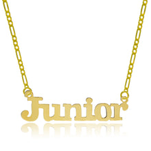14K Yellow Gold Personalized Name Necklace - Style 8