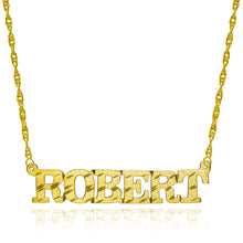 14K Yellow Gold Personalized Name Necklace - Style 9