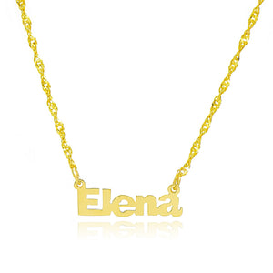 14K Yellow Gold Personalized Name Necklace - Style 14