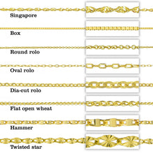 14K Two Tone Gold Personalized Double Plate 3D Name Necklace - Style 5