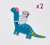 She-Rex Patch Bundle (Brontosaurus x 2) - My-Tee Girls
