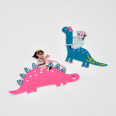 She-Rex Patch Bundle (Stegosaurus + Brontosaurus) - My-Tee Girls