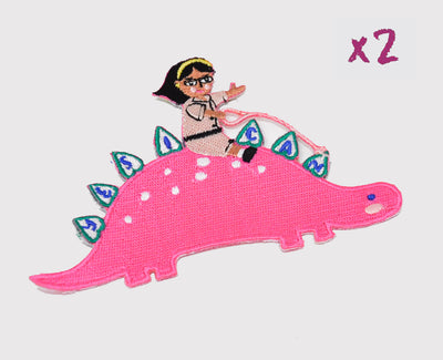 She-Rex Patch Bundle (Stegosaurus x 2) - My-Tee Girls