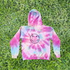 Pastel Neon Rainbow - Adult YIC Smiley Hoodie - My-Tee Girls