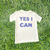 Astro Girl YES I CAN Rhinestone T-Shirt in White