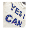 Astro Girl YES I CAN Rhinestone T-Shirt in White - My-Tee Girls