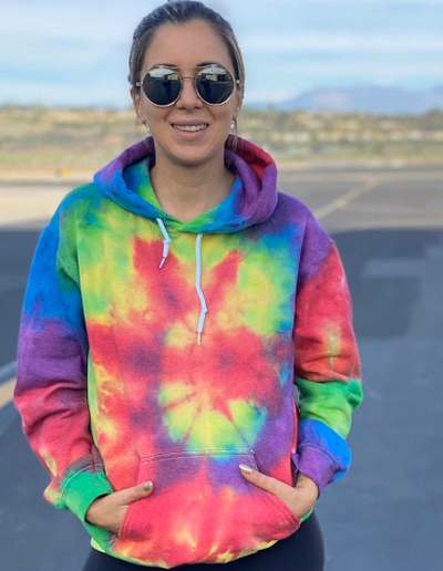 Somewhere Over The Rainbow - Adult YIC Smiley Hoodie - My-Tee Girls