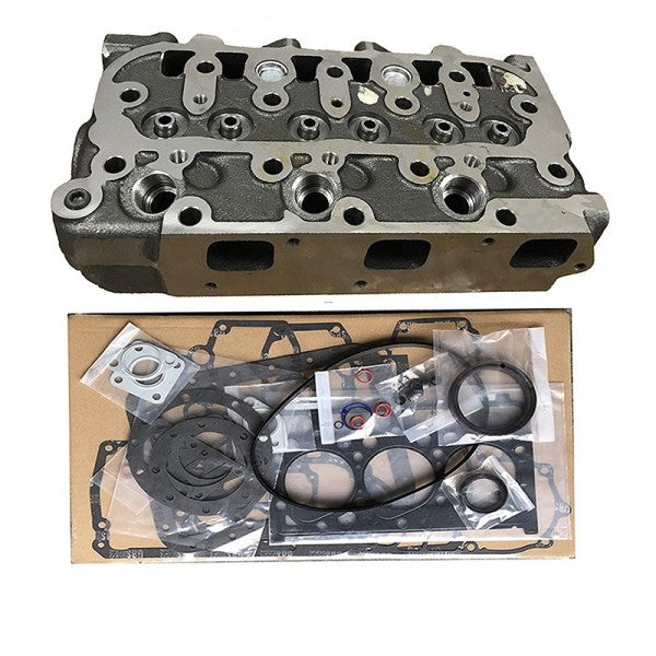 Complete Cylinder Head With Valves + Full Gasket Kit for Kubota D850 D850-5B D850-BH-W Engine B1550D B1550E B6200D B6200E