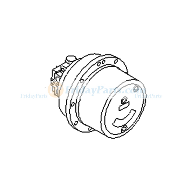 KOMATSU PC45R-8 Travel Motor Assembly with Reduction Gearbox 20T-60-82120