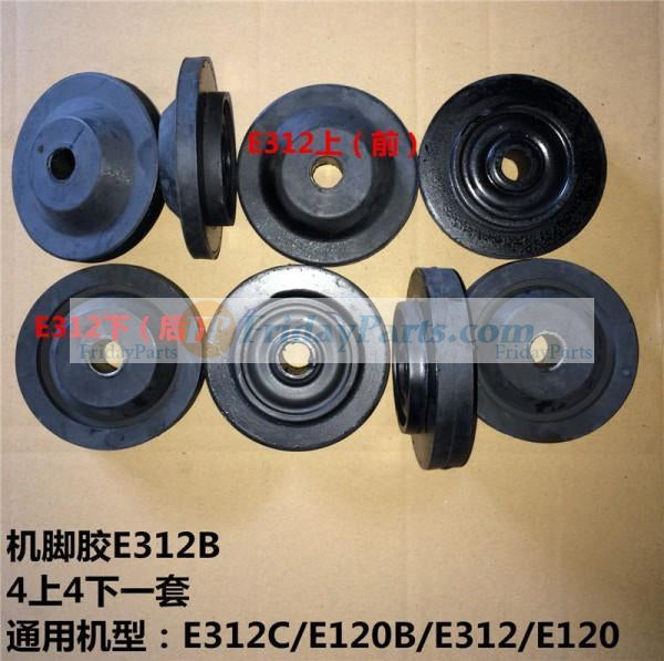 For Caterpillar CAT Excavator E312C Engine Mounting Rubber Cushion Feet Bumper