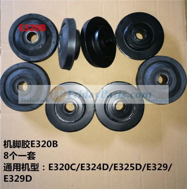 For Caterpillar CAT Excavator E324D Engine Mounting Rubber Cushion Feet Bumper