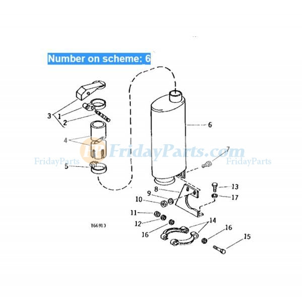 For John Deree Bulldozer 450D 450E 550 550A 550B Muffler Silencer AT47110