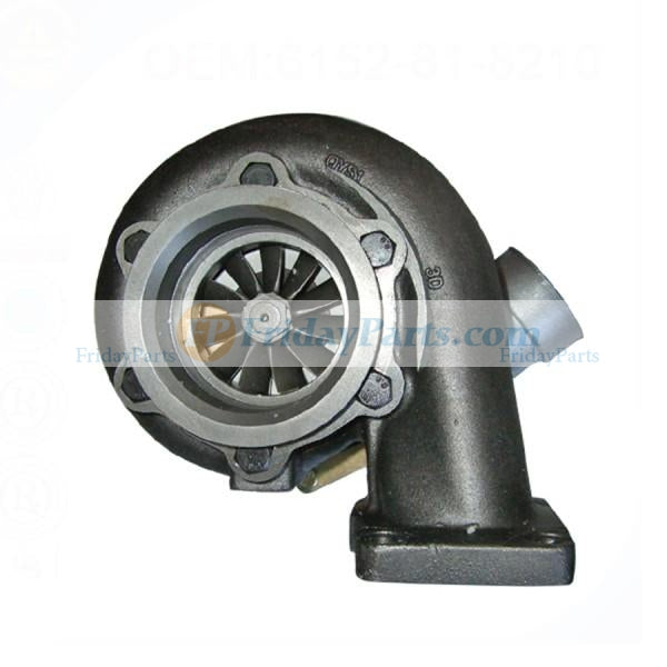 For Komatsu CS210-1 LW250-5X LW250-5H GD705A-4A-N Engine S6D125E-2 Turbo S3A Turbocharger 6152-82-8610