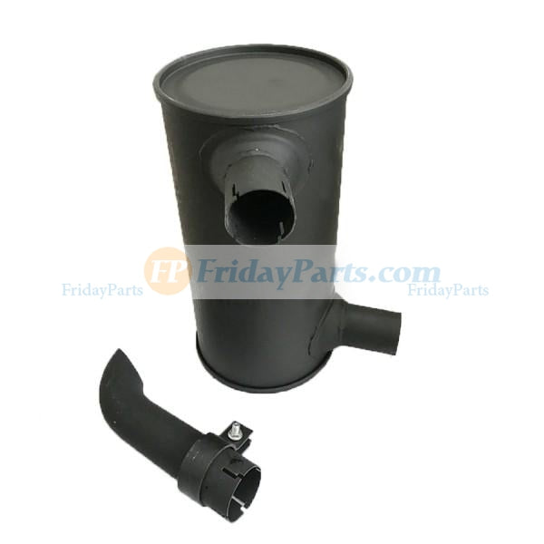 For Komatsu Excavator PC100-6 PC120-6 PC130-6 Engine S4D102E Muffler Silencer 6732-11-5570