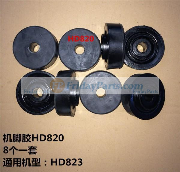 For Kato Excavator HD820 Engine Mounting Rubber Cushion Feet Bumper