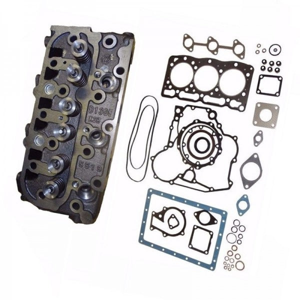 For Kubota Engine D1105 Complete Cylinder Head with Full Gasket Kit