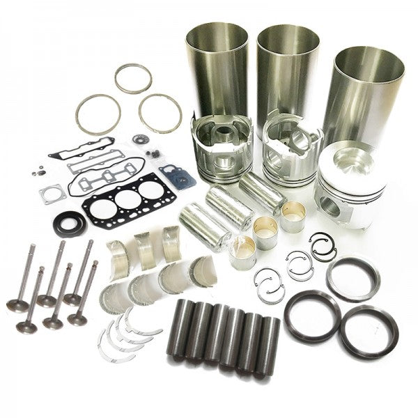 Overhaul Rebuild Kit for Yanmar 3TNV82 Engine VIO30 VIO27 B3 Excavator EG224 Tractor