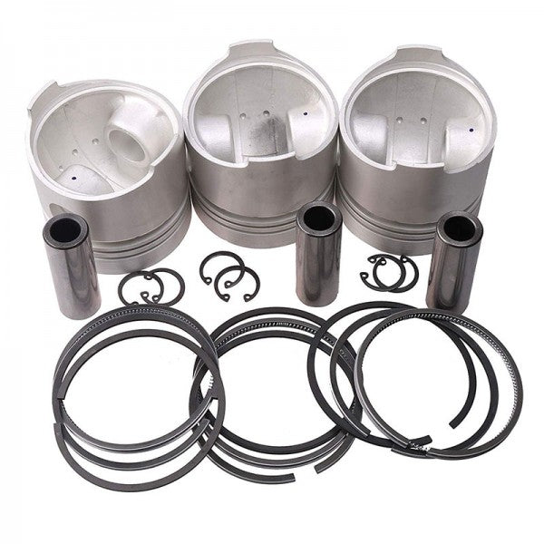 Piston & Piston Ring Set STD 78mm for Kubota D1105 Engine B2910HSD B7800HSD B3030HSD F3680 KX71 KX71H Tractor