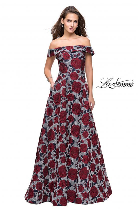 LA FEMME - 25790, ${vendor, 10, aline, evening, express, LAFEMME, taffeta
