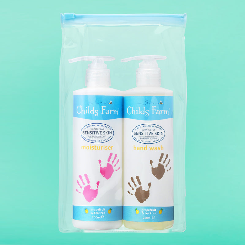 Childs Farm hand care gift bag, contains 2 x 250ml bottles