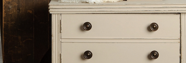 cathedral taupe cream colour furniture paint by fusion mineral paints on a chest of drawers