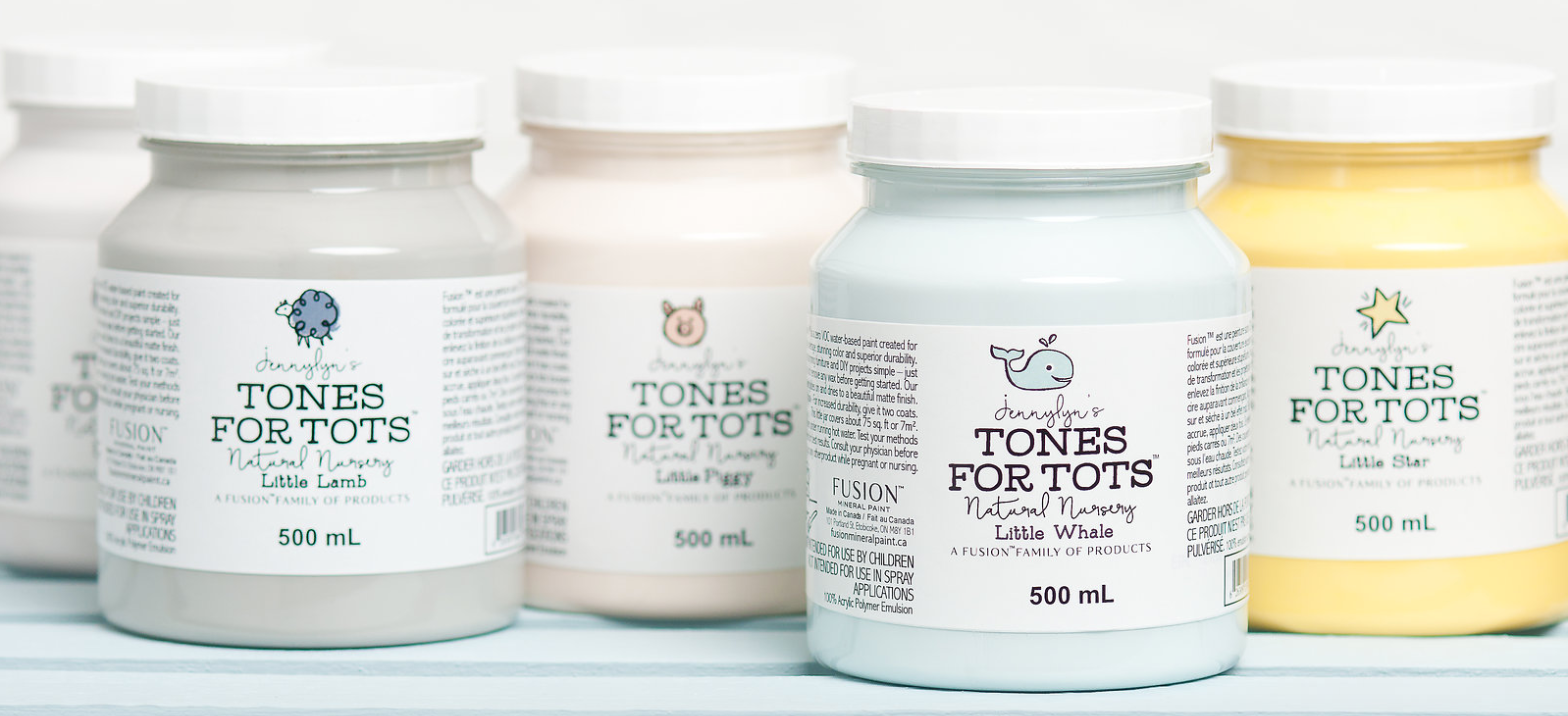 Tones for tots child friendly nursery furniture paint by fusion mineral paint UK Vintage Frog