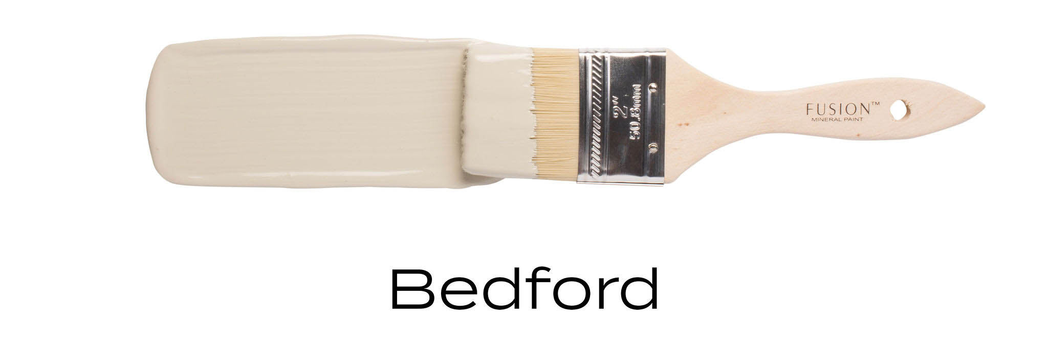 Bedford green colour fusion paint on paint brush stroke