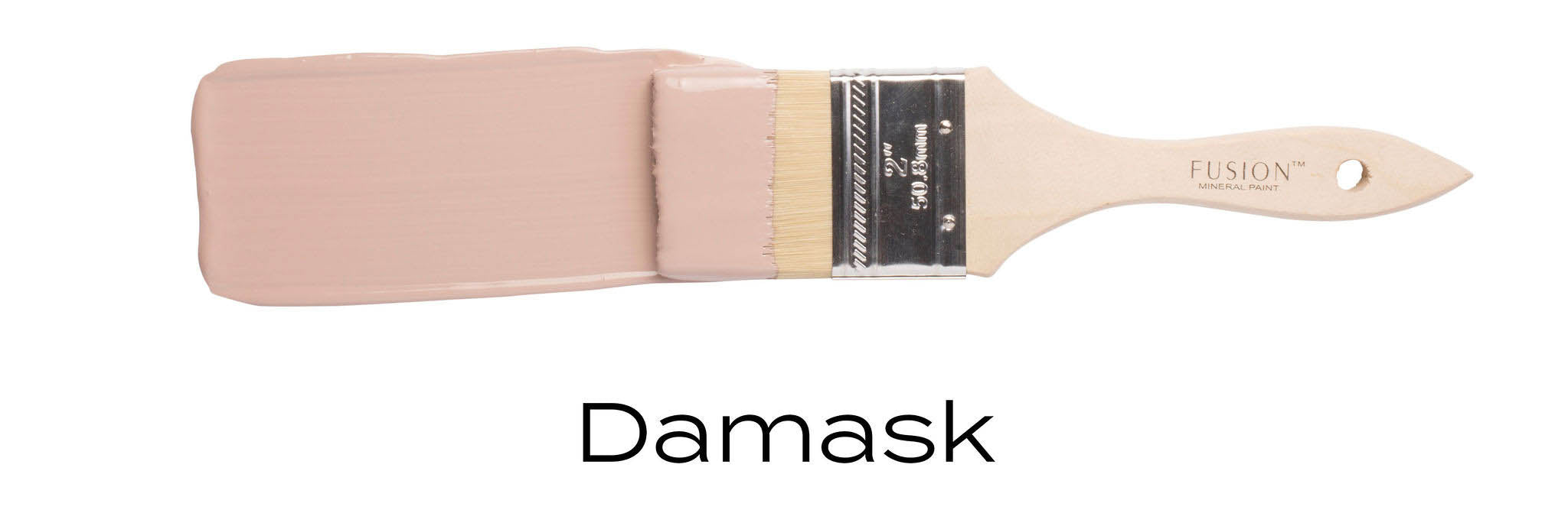 Damask pink toned furniture paint by fusion mineral paint on paint brush