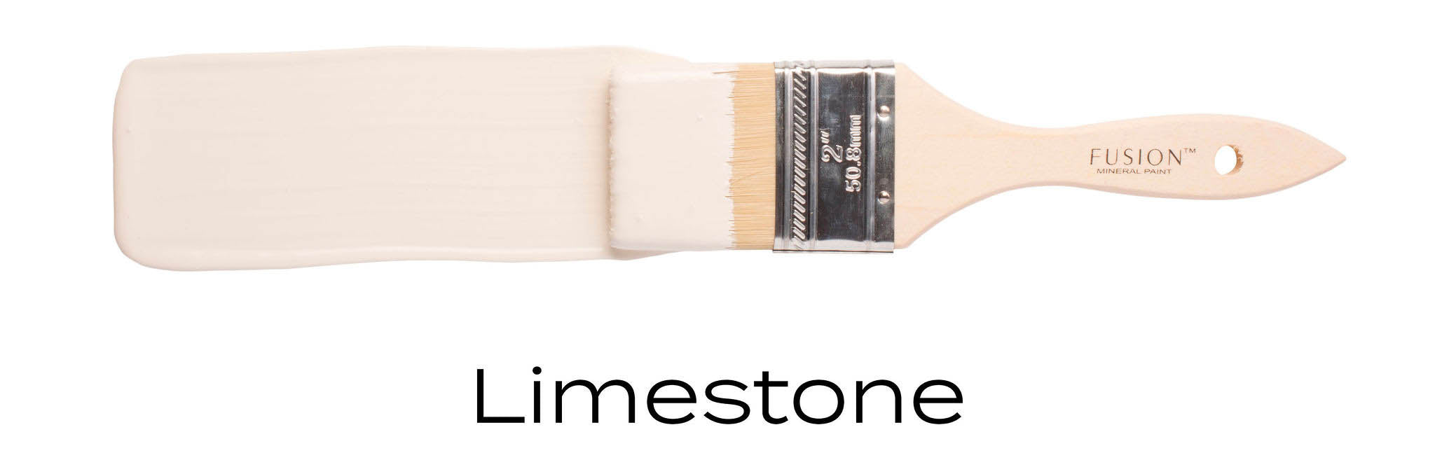 limestone fusion mineral paint colour furniture paint on a paint brush stroke