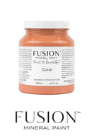 Coral, fusion mineral paint furniture paint UK England supplier stockist