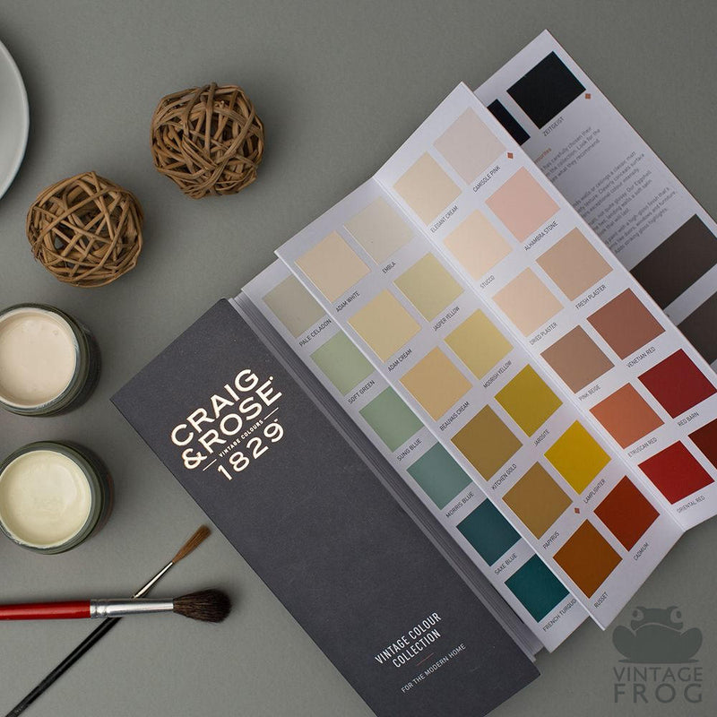 Craig and Rose Wall Emulsion and Furniture Paint Colour Chart, Vintage Frog, UK Surrey Stockist Supplier