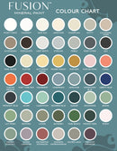 Fusion Mineral Paint Colour Chart. Full Updated Fusion Colour List Chart Palette Coral. UK Stockist Vintage Frog