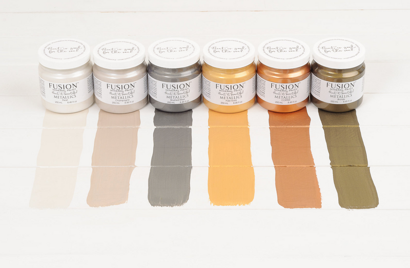 Metallic Fusion Mineral Paint. Metal Glitter Finish Paint. Vintage Frog UK Stockist
