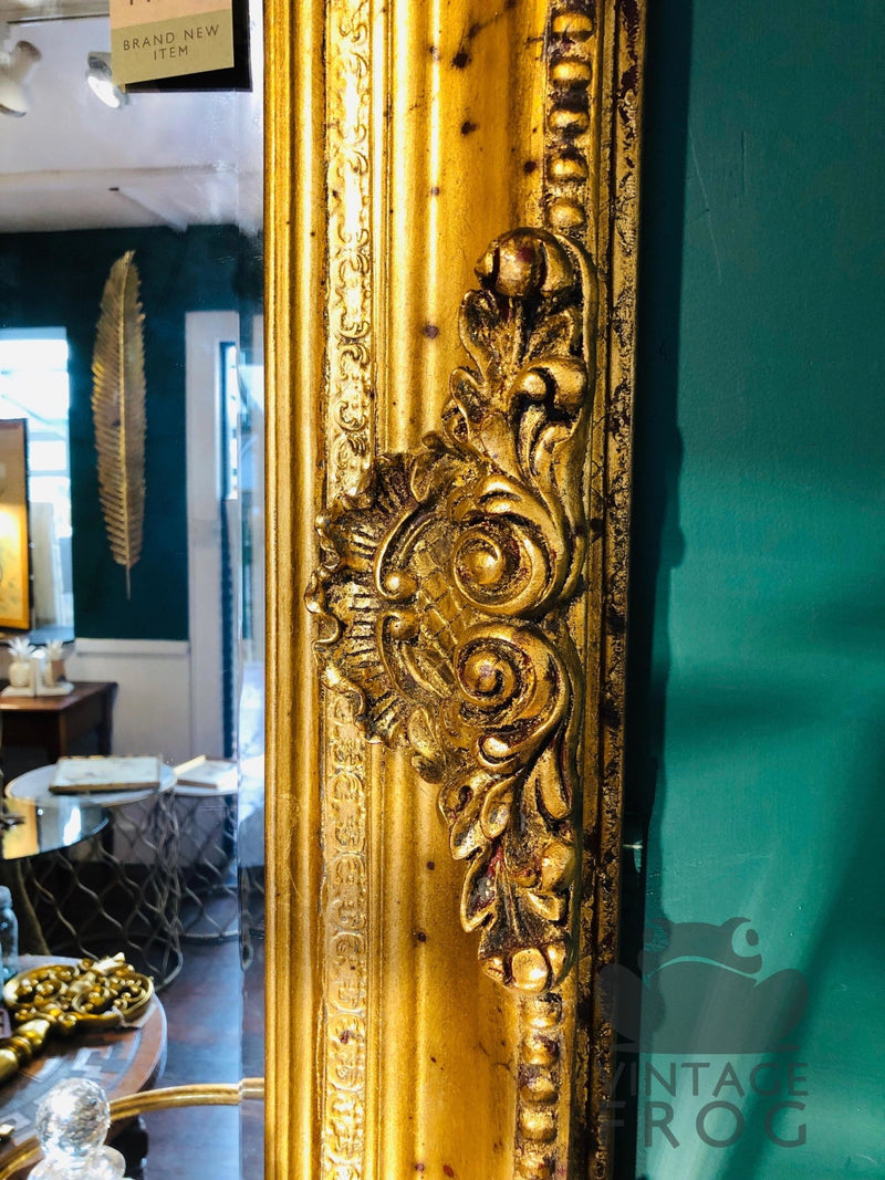 Antique Style Gold Rectangular Traditional Bevel edged Wall MirrorVintage FrogMirror