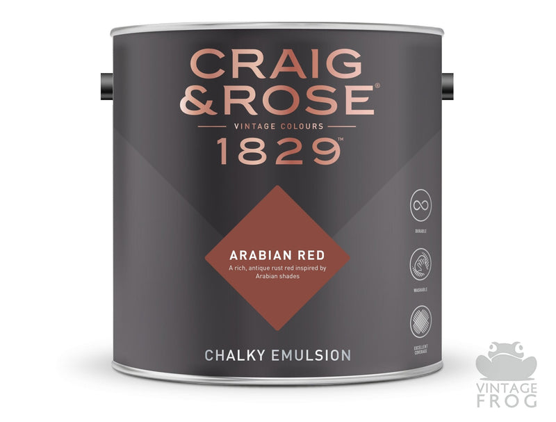 Arabian Red, Craig & Rose Paint, 1829 Vintage CollectionCraig & RosePaint