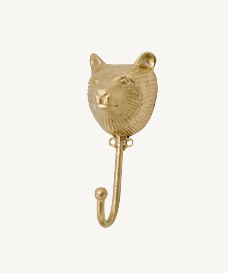 Bear Face Hook, Wall Mounted Brass Coat Hook DecorDoing GoodsHooks