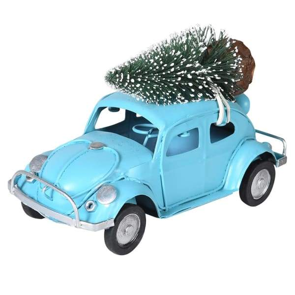 Beetle Car With Christmas Tree On RoofVintage FrogChristmas Decor