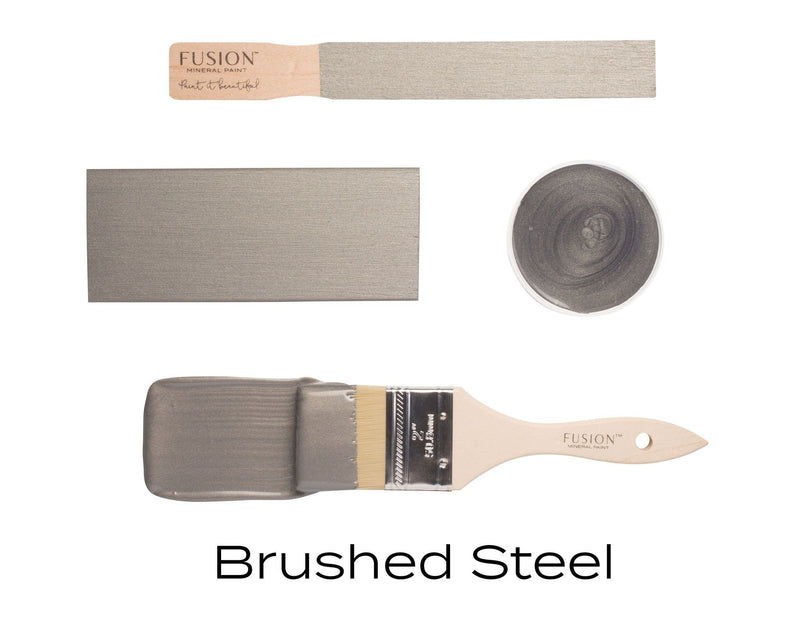 Brushed Steel, Metallic Fusion Mineral PaintFusion™Paint