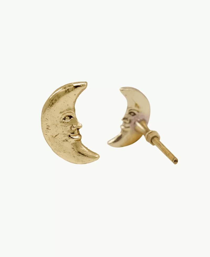 Crescent Moon Knob Left, Brass Cabinet Handle, Furniture DecorDoing GoodsCabinet Handles