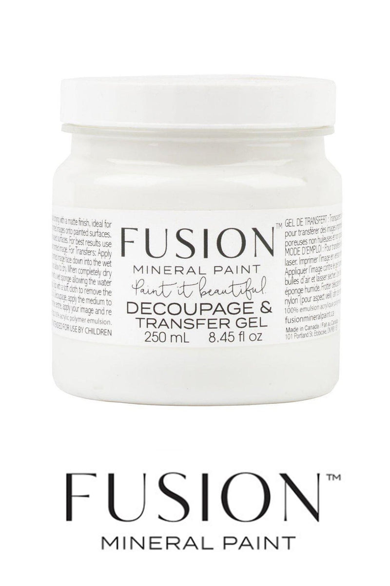 Decoupage and Transfer Gel Size, Fusion Mineral Paint - 250mlFusion™Paint