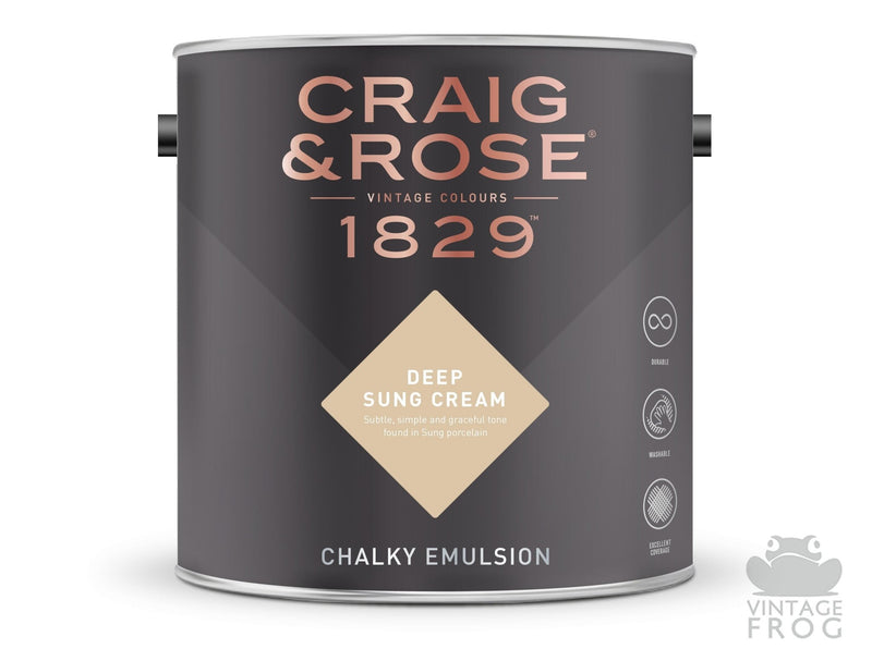 Deep Sung Cream, Craig & Rose Paint, 1829 Vintage CollectionCraig & RosePaint