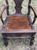 Early 20th Century Carved Oak ArmchairVintage FrogVintage Item