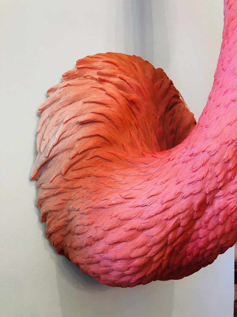 Flora The Wall Mounted Flamingo BustVintage FrogBrand New